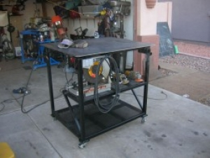 Welding Table with Locking Casters