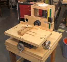 Homemade X Y Drill Table Based Slot Mortiser