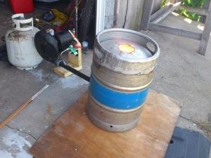 Homemade Beer Keg Casting Furnace