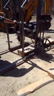 how to make a homemade bandsaw mill