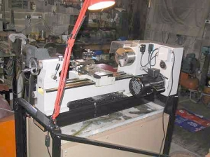 Spanning Beam Lathe Stand