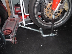 Homemade Motorcycle Front Wheel Stand Homemadetools Net