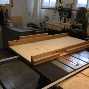 Oversized Table Saw Sled