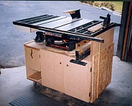 Table Saw Stand and Cabinet