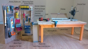 Portable Pegboard Workstation