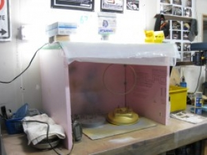 Parts Spray Booth and Fume Hood