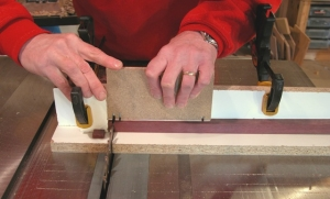 Miter Gauge Sled and Hold Down
