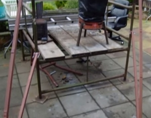 Homemade Scaffolding Stabilizers