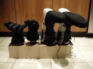 Homemade Glove and Boot Dryer