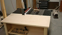 Table Saw Outfeed