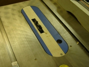 Table Saw Zero Clearance Insert