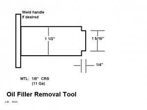 Oil Filler Removal Tool