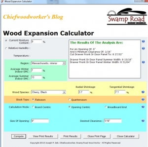 Wood Expansion Calculator