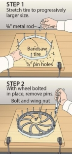 Bandsaw Tire Changer
