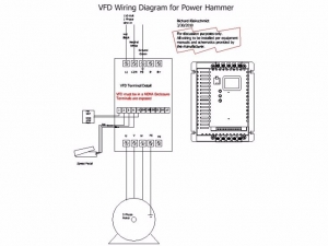 Homemade VFD Power Hammer Wiring - HomemadeTools.net on fan wiring diagram, pump wiring diagram, motor wiring diagram, electrical wiring diagram, servo wiring diagram, transformer wiring diagram, hmi wiring diagram, vector wiring diagram, vip wiring diagram, dc wiring diagram, add a phase wiring diagram, inverter wiring diagram, ac drive wiring diagram, dcs wiring diagram, start stop station wiring diagram, led wiring diagram, rotary phase converter wiring diagram, lighting wiring diagram, hvac wiring diagram, control wiring diagram,