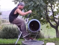 Pedal Powered Cement Mixer