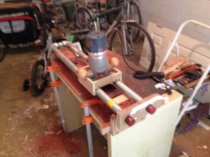 Router Sled Compound Radius Jig