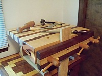 Dovetailing and Carving Bench
