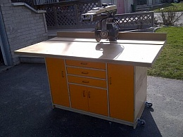 Homemade Radial-Arm Saw Cabinet - HomemadeTools.net