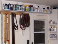 Paint Can Storage Shelf