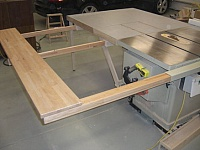 Extending Table Saw Wing