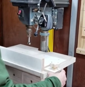 Drill Press Table Fence
