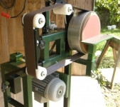 Combination Belt Grinder and Disc Sander