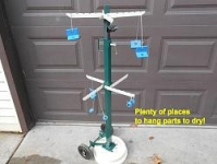 Mobile Parts Drying Rack