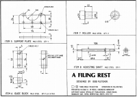 Lathe Filing Rest