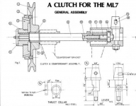 ML7 lathe clutch