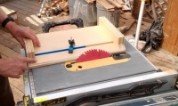 Angle Cut Table Saw Sled