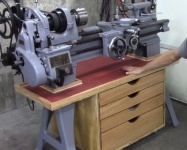 Lathe Catch Pan and Cabinet