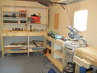 Miter Saw and Woodworking Station