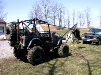 Jeep-Mounted Hoist