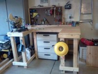 Wooden Wraparound Workbench
