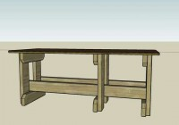 Particle Board-Topped Workbench
