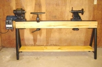 Conover Wood Lathe Bed and Stand