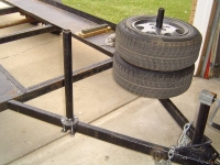 Trailer Tire Rack