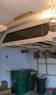 Homemade Truck Cap Hoist