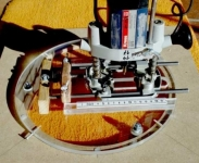 Floating Circle Cutting Router Jig