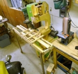 Wooden Bandsaw with Sawmill Sled
