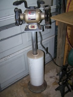 add diy bench grinder stand
