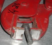 Vise Grip Screw Holder