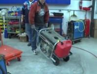 homemade hand cranked dc generator