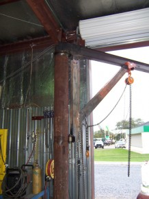 Homemade Jib Crane Hoist