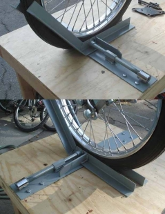 Homemade Motorcycle Wheel Chock