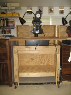 Homemade Radial Arm Saw Cabinet - HomemadeTools.net