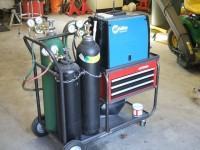 Welding Cart with Storage Drawers