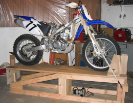 Homemade Wooden Motorcycle Lift Table