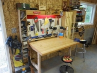 Fold-Down Workbench